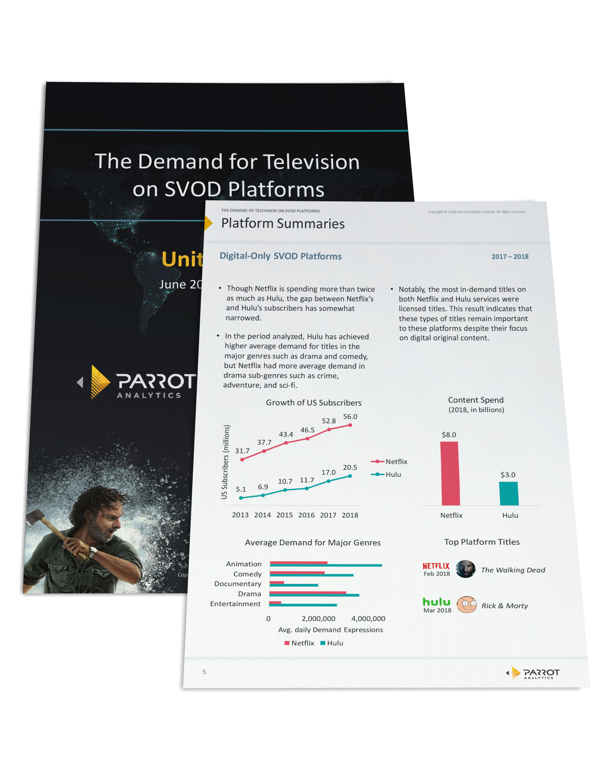 The demand for television on SVOD platforms in the U.S.