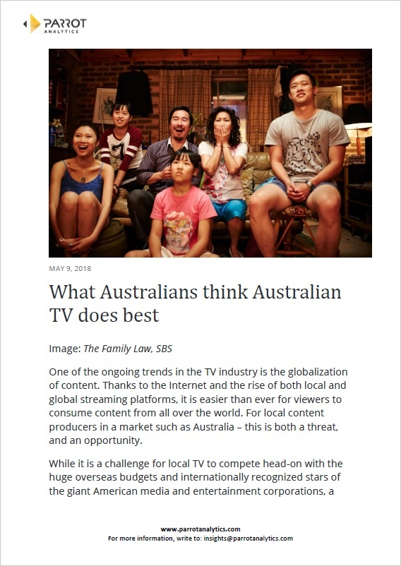 Australian TV Local Content Audience Preferences Study 2018